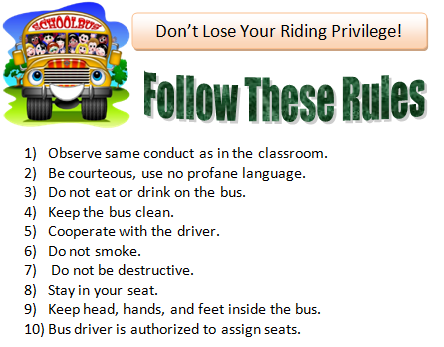 photograph about Printable School Bus Rules named College student Transport Registration Loyalsock Township